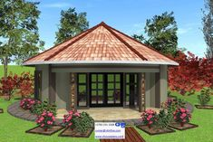4 Corner House Plans New House Plan No Round House Round House Plans, Barn House Plans, Modern House Plans, House Floor Plans, Village House Design, House Front Design, Village Houses, Hut House, Farm House