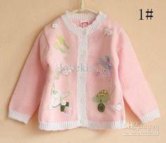 Girls Cardigan Kids Sweaters Fashion Knitting Patterns Children Knit Tops Baby Cute Lace Sweaters