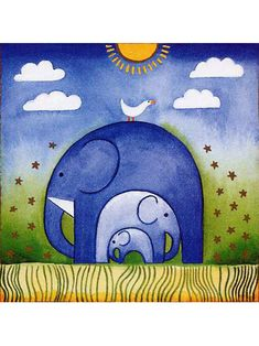 Elephant Family Canvas Kids Oil Painting - Photography İdeas,Photography Poses,Photography Nature, and Vintage Photography, Image Elephant, Elephant Art, Draw An Elephant, Tribal Elephant Drawing, Elephant Drawing For Kids, Cartoon Elephant Drawing, Tribal Art, Art Drawings For Kids, Easy Drawings