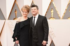 Pin for Later: There Were So Many British People at the Oscars We Almost Forgot They Were in Hollywood Lorraine Ashbourne and Andy Serkis