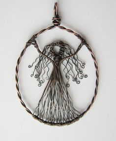 Wire Goddess Pendant