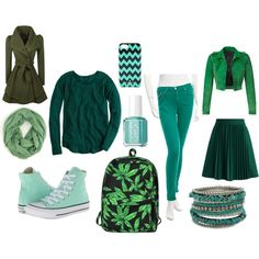 """Green"" by msara23 on Polyvore"