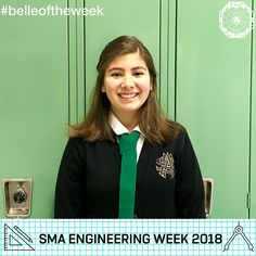 "Demilynn Vazquez, Green Tie '21, is in the Engineering Career Path Program and earned a 4.5 GPA her first semester at SMA! We asked Demi why she chose engineering: ""I engineer because I have been taught that women of distinction must serve the dear neighbor. As a woman of distinction, God's calling for me is to engineer in order to make the world a better place for 'All things are possible through Christ who strengthens me' (Philippians 4:13)."""
