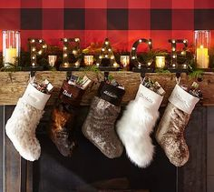 Faux Fur Stockings #potterybarn