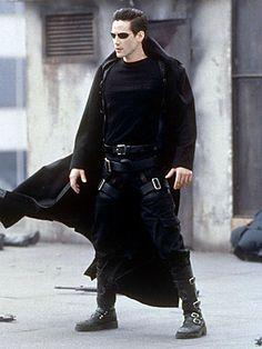Matrix Long leather coat