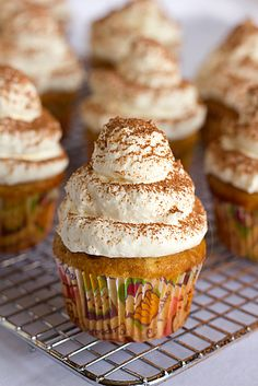 marscapone whipped cream frosting (tiramisu cupcakes). The cupcake is quite dry but the frosting is magnificent.