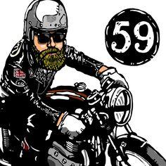 Rockers - Cafe Racer culture - Kamu #illustration #design #motorcycles #motos | caferacerpasion.com