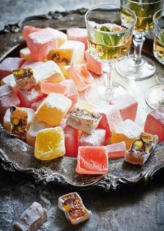 Turkish Delight using natural sweeteners and agar-agar