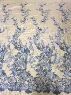 Items similar to 2017 New arriva lace fabric elegenty handmade floral lace fabric beading lace with flower 130 cm width two color available on Etsy Beaded Lace Fabric, Bridal Lace Fabric, Fabric Beads, Tulle Lace, Periwinkle Flowers, Handmade Flowers, Fabric Flowers, Floral Lace, Earrings Handmade