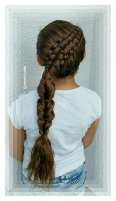 Diagonal zipper braid + topsy tail braid
