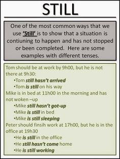 use fo still, Learn English. English Grammar. Grammar. ESL. TEFL. Ask Paul.