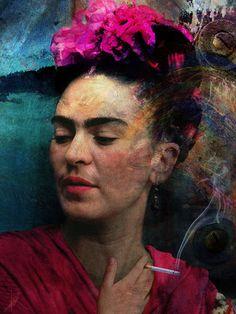 'Frida+Kahlo+-+Malerin+der+Schmerzen'+by+Harald+Fischer+on+artflakes.com+as+poster+or+art+print+$20.09