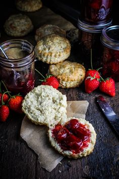 Black pepper buttermilk biscuits with strawberry pinot noir jam. Could this get any more perfect?