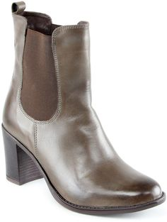 Taupe Donna Leather Ankle Boot ~ Available Sizes: 6 ,6.5 ,7.5 ,8.5 ,9 ,9.5 DETAILS This sleek ankle boot will become a go-to option in your closet thanks to its supple leather construction simple slip-on style and moderate stacked heel. 2.95'' heel 5.71'' shaft 11.25'' circumference Elastic goring Leather upper Textile lining Leather footbed Man-made sole Imported Price was $177.49  Yours for  $69.99
