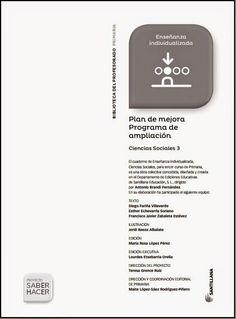 Colegio José Calderón: Plan de mejora. Programa de ampliación, Ciencias Sociales, 3º E. Primaria.