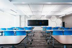 Alaska Communications Business Technology Center has Tectum Hexagons and direct…
