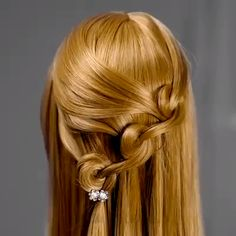 Peinados fáciles Low Pony Hairstyles, Easy Hairstyles For Long Hair, Little Girl Hairstyles, Braided Hairstyles, Wedding Hairstyles, Creative Hairstyles, Easy Hair Styles Quick, How To Braid, Hair Origami