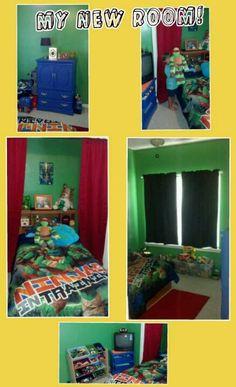 Teenage Mutant Ninja Turtles bedroom for my 4 year old