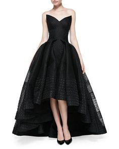 Superbly Elegant, Vintage Style Black Evening Gown by Zac Posen at Neiman Marcus.