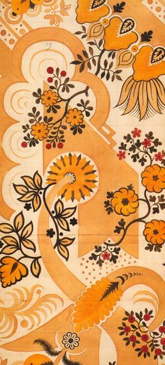 James Leman, silk design, 1710  Watercolor on paper