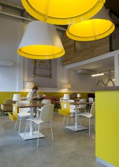 Urban Station by Total Tool BA, cafe interior, yellow, white