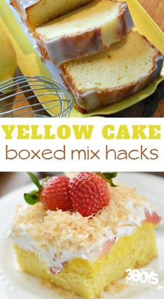 make a box cake mix taste like bakery cakes with these easy yellow box cake recipes. These cake mix desserts include cake mix cookies and more dessert recipes that start with a boxed cake mix. Cake Mix Pound Cake, Cake Mix Bars, Cake Mix Cupcakes, Cake Mix Desserts, Box Cake Mix, Cake Mix Muffins, Recipes Using Cake Mix, Box Cake Recipes, Cake Recipes From Scratch