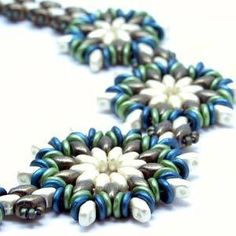 ROUND ABOUT FLOWER NECKLACE - Free Jewelry Making Project complements of Bead Smith(R)