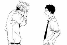 Anime: Haikyuu!! Oikawa x Iwaisumi = Gif Fanart = Doujinka: Gusari/Sashikizu/Kizu Natsuki