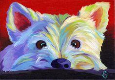 Westie Dog - Giclee Art PRINT - By Corina St. Martin by CorinaStMartinArt on Etsy https://www.etsy.com/listing/158352991/westie-dog-giclee-art-print-by-corina-st