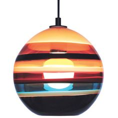 for over kitchen island - Siemon & Salazar Cranberry Banded Orb Pendant