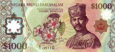 An image of the B$1,000. #1000 #Currency #Brunei