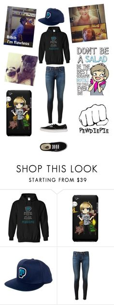 """Pewdiepie Outfit "" by nikki-graff ❤ liked on Polyvore featuring moda, AG Adriano Goldschmied e Vans"
