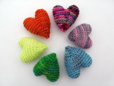 These are the most adorable hearts..can't wait to make them for my great nieces and nephews, and my mom, and sisters and daughters and...and..and..wow they are wonderul ok I said that before.      Crochet these fun hearts!
