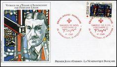 Timbre : 1981 FERNAND LEGER ÉGLISE DU SACRE-CŒUR-AUDINCOURT | WikiTimbres