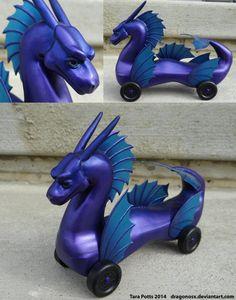 Purple Sea Serpent Pinewood Derby Car by DragonosX on DeviantArt