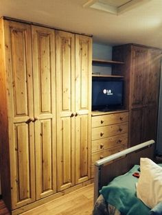 Handmade fitted wardrobe manufactured in Cornwall and fitted by our specialist team.