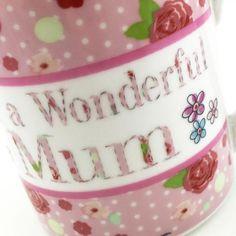 Wonderful Mum Mug, Multi