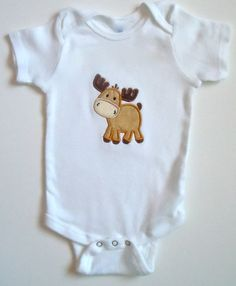 Baby Moose Personalized One Piece Bodysuit by babycakesbytiffany, $18.00