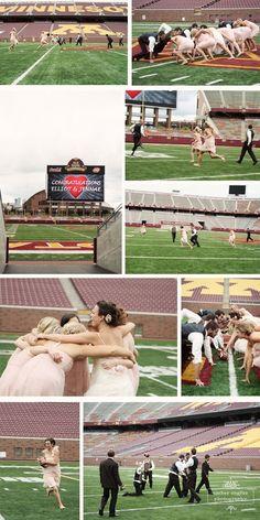 Cute football wedding photo ideas......the man would love, lol