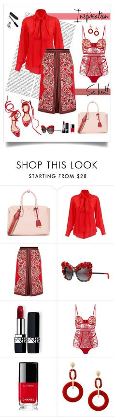 """""""Hot Inspiration"""" by dreamfashionjewelry ❤ liked on Polyvore featuring MCM, Alexander McQueen, Dolce&Gabbana, Christian Dior, Chanel, Dettagli and Bobbi Brown Cosmetics"""