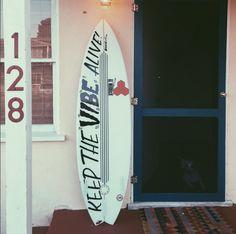 Custom Hand Lettering - Surfboard - Hand Painted - by Bohie Palecek