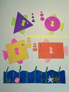 Preschool and Homeschool Preschool Classroom Decor, Kindergarten Art Projects, Preschool Crafts, Preschool Shapes, Class Decoration, School Decorations, Art Drawings For Kids, Art For Kids, Kids Crafts