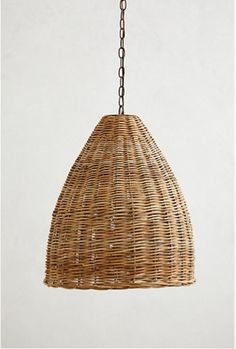 High/Low: A Trio of Woven Wicker Pendant Lights: Remodelista