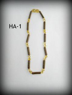 Hazelwood & Baltic Amber Teething Necklace ~ HA-1 ~ $18