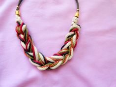 Braided boho necklace bohemian necklace hippie by Handemadeit, $27.90