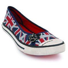 Rocketdog Klash British Flag shoes - yes, please! #shoes #British