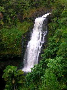 Kuliniapia Falls, Hilo, Hawaii. The Big Island of Hawaii. #waterfall #hawaii