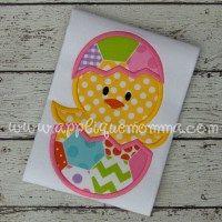 Easter Egg Chick Applique Design