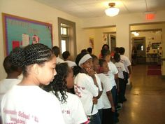 Students at Imagine Charter School in Washington DC where they will sing to their peers.