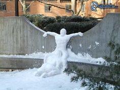 Menschen aus dem Schnee, sex, Winter, Schnee